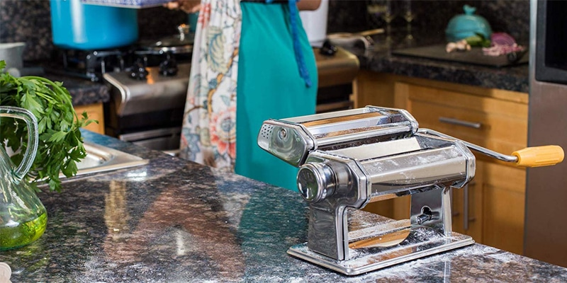OxGord Pasta Maker Machine Hand Crank