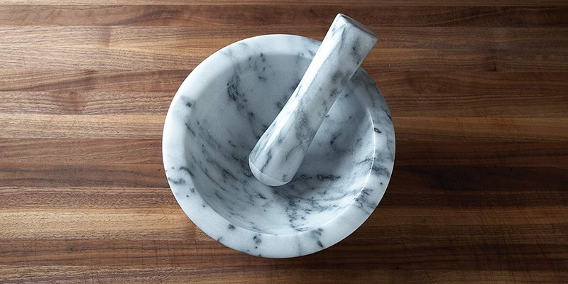 Fox Run 3837 Large Marble Mortar and Pestle