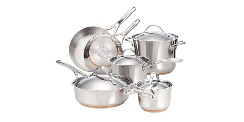 Anolon Nouvelle Copper Stainless Steel Anolon Cookware Set