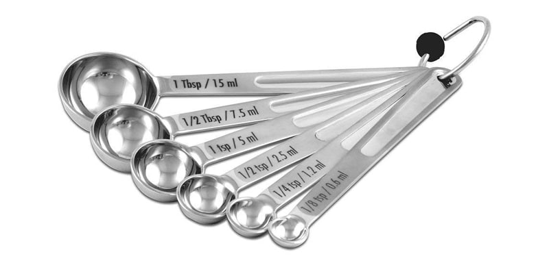 CIA Master Collection 6 Piece Measuring Spoon Set