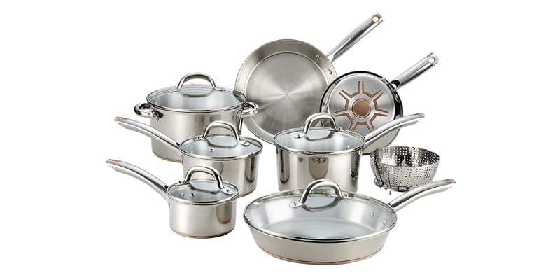 T-fal C836SD Stainless Steel 13 PC Cookware Set