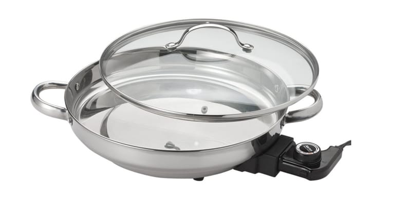 Aroma Housewares AFP-1600S Stainless Steel Electric Skillet