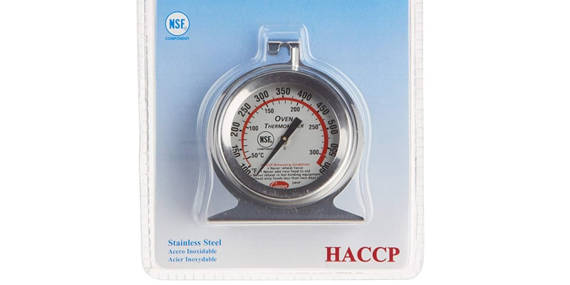 Cooper-Atkins 24HP-01-1 Stainless Steel Bi-Metal Oven Thermometer