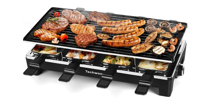 Techwood Raclette Grill Electric BBQ Grill