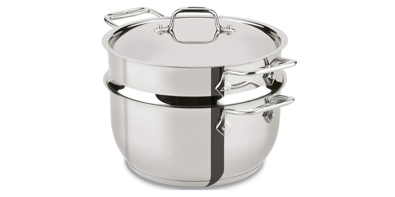 All-Clad E414S564 Stainless Steel Steamer Cookware