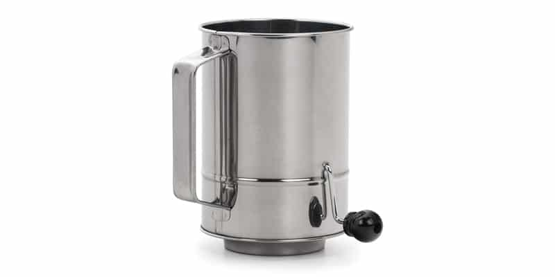 RSVP International (SIFT-5CR) Stainless Steel Crank Style Flour Sifter