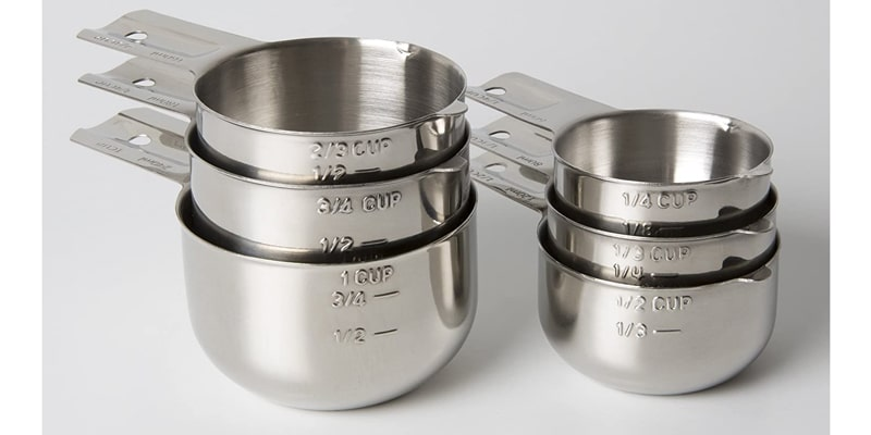 KitchenMade Measuring Cups Stainless Steel 6 Piece Stackable Set