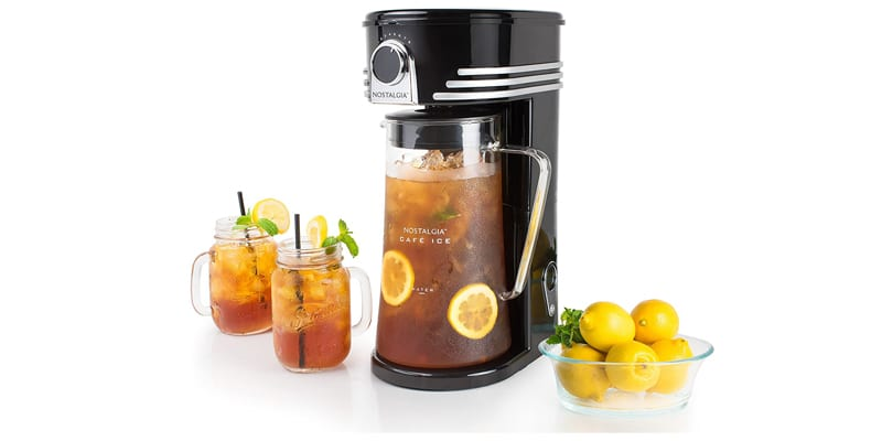Nostalgia CI3BK Iced Coffee Maker and Tea Brewing System